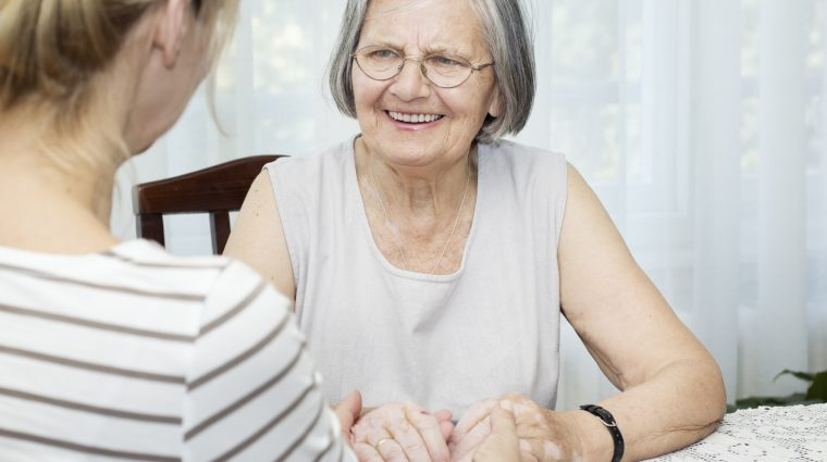Image of happy senior woman Midland Care Home Health