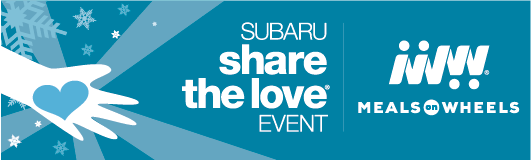 Subaru Share the Love Banner with Meals on Wheels logo