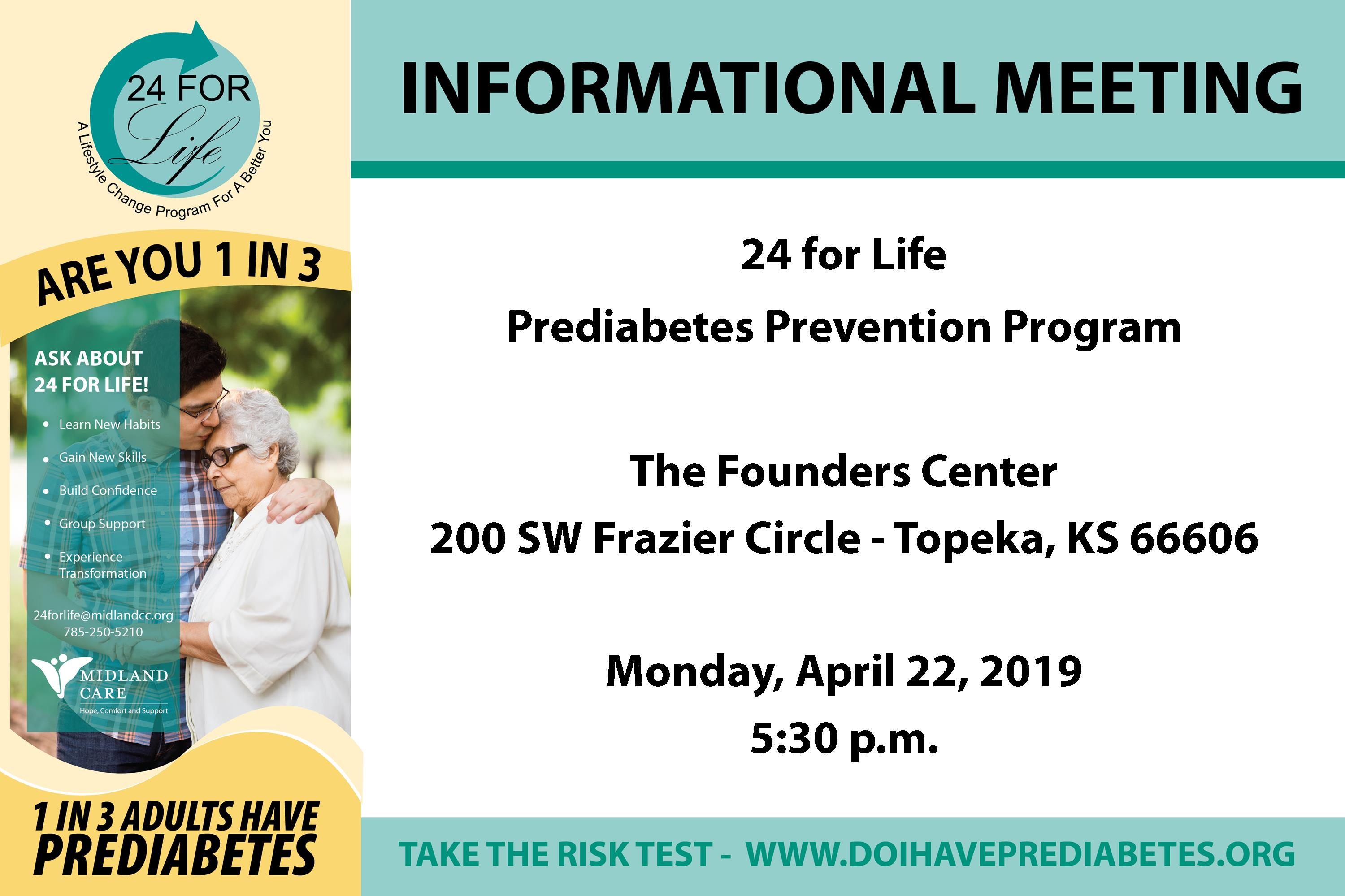 24 for Life - Informational Meeting @ Midland Care - Founders Center | Topeka | Kansas | United States
