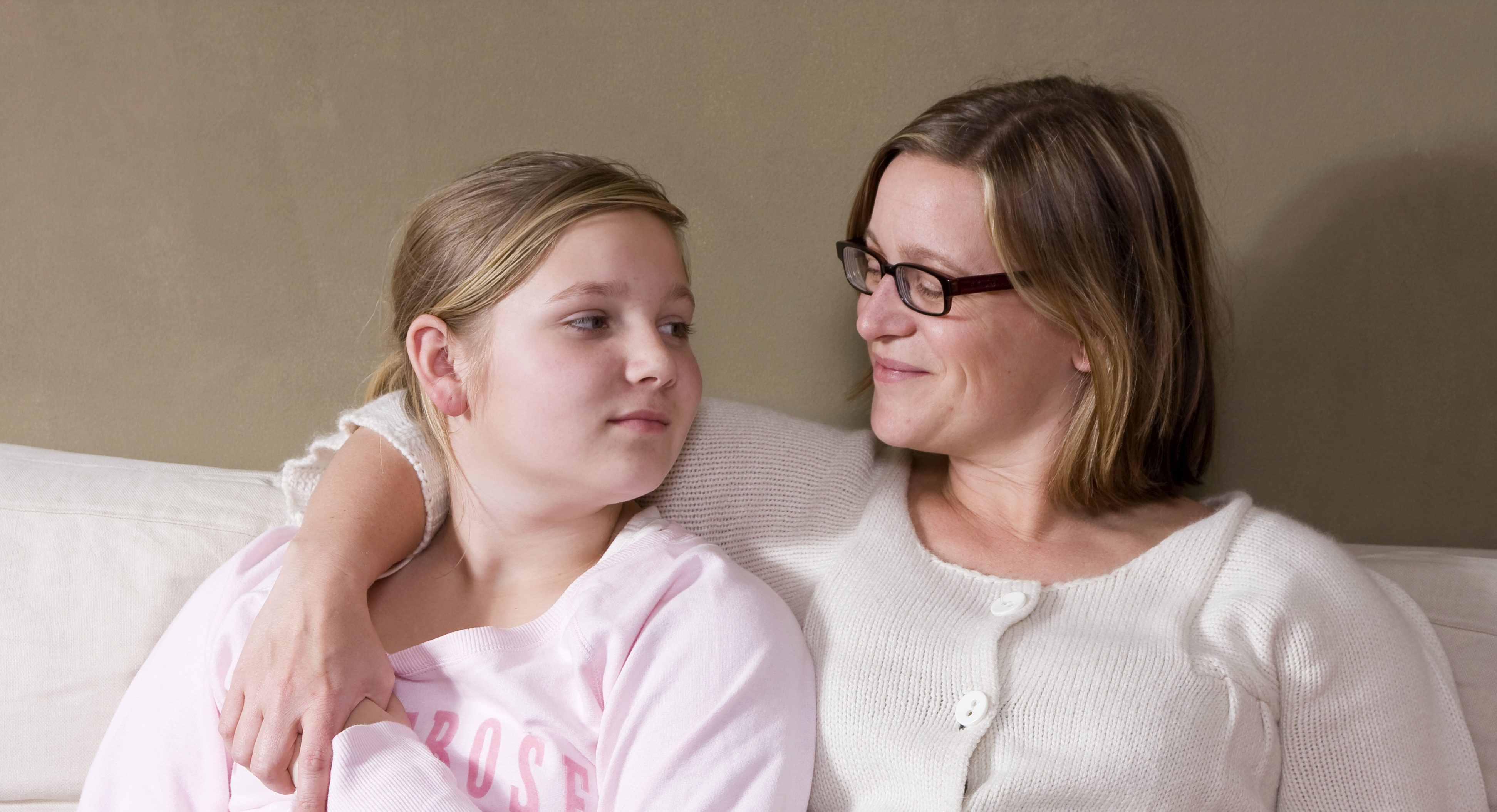 Image of a Mother and daughter having conversation