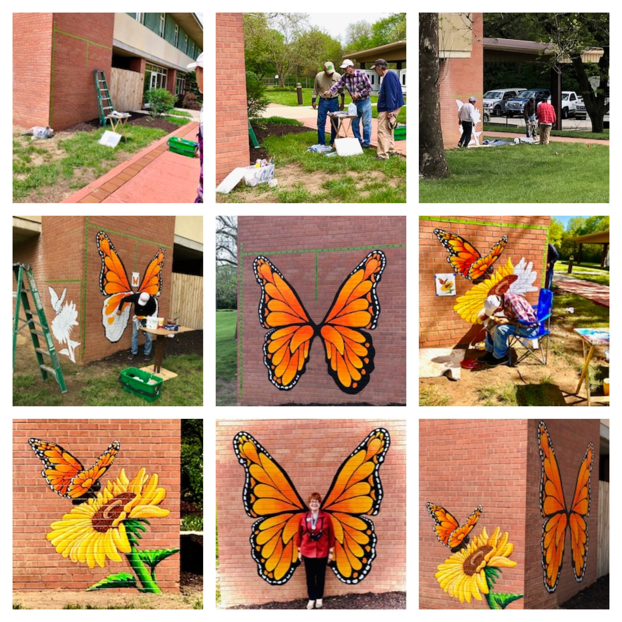 Midland Care Butterfly Memories Mural