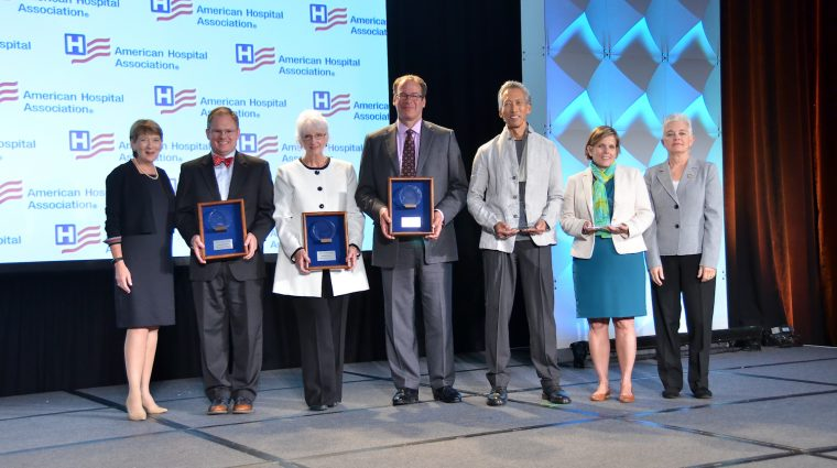 Image of Circle of Life Award American Hospital Association Honorees With Presenters