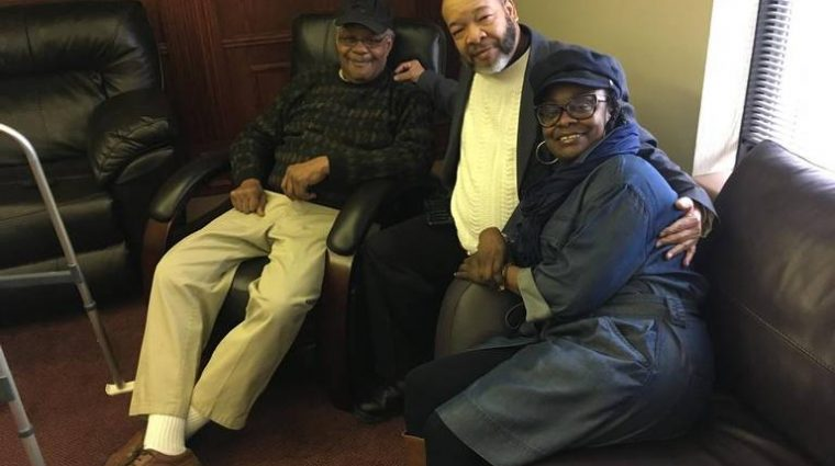 Bruce Johnson (left) and his cousin Broderick Crawford and sister Joy Johnson-Carvin. Andy Marso, Kansas City Star